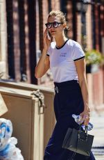 KARLIE KLOSS Out and About in New York 04/14/2016