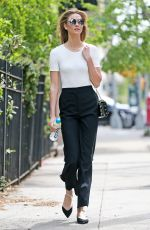 KARLIE KLOSS Out and About in New York 04/28/2016