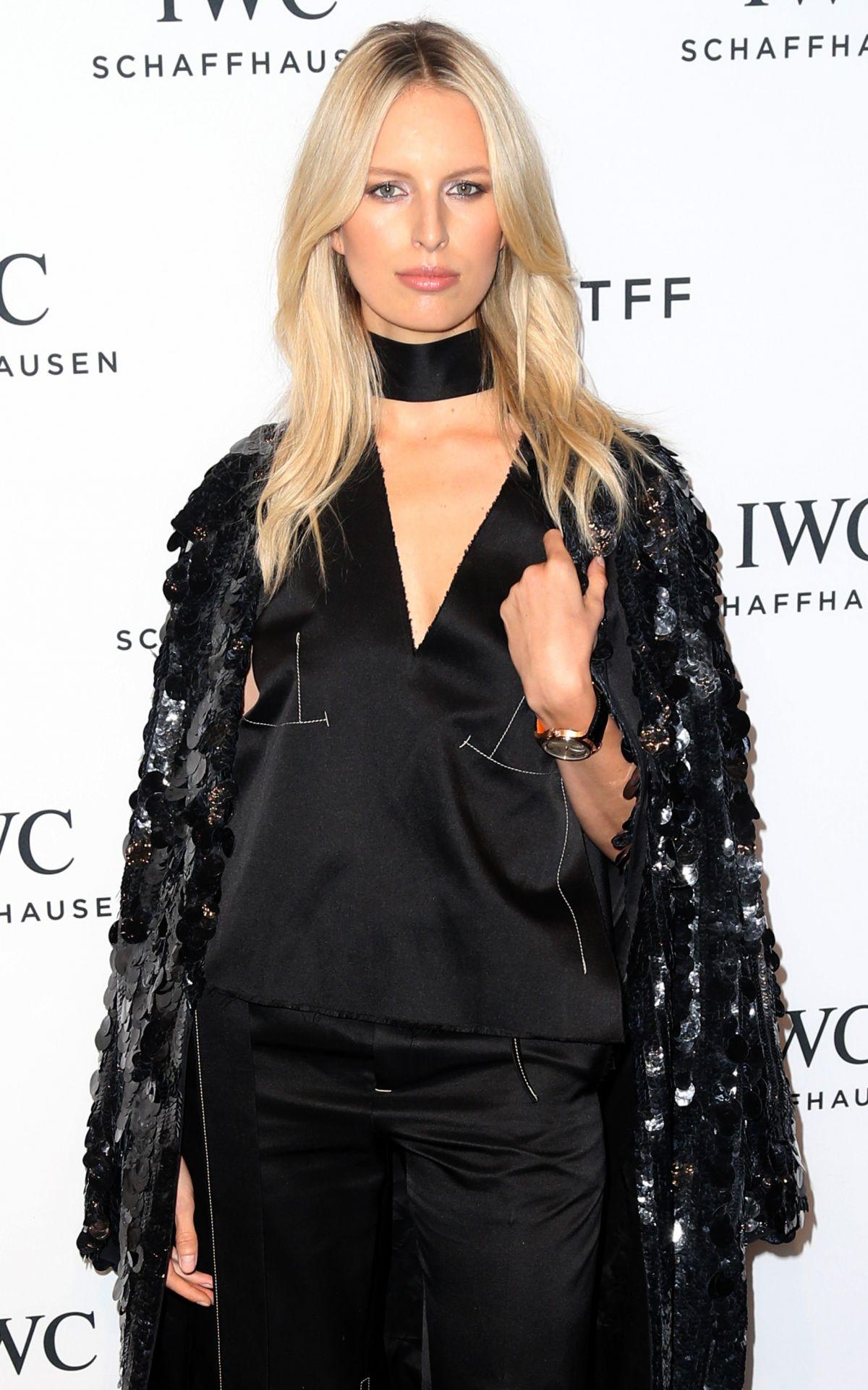 KAROLINA KURKOVA at IWC Schaffhausen for the Love of Cinema Dinner at Tribeca Film Fest in New York 04/14/2016