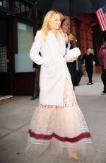 KATE HUDSON Leaves Her Hotel in New York 04/28/2016