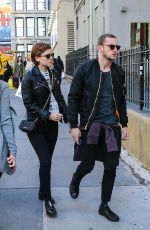 KATE MARA and Jamie Bell Out and About in New York 04/16/2016