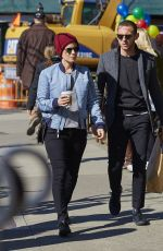 KATE MARA and Jamie Bell Out in New York 04/14/2016