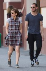 KATE MARA Out and Abaout in Soho 04/18/2016