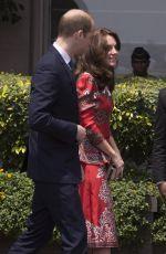 KATE MIDDLETON Arrives at Taj Palace Hotel in Mumbai 04/10/2016