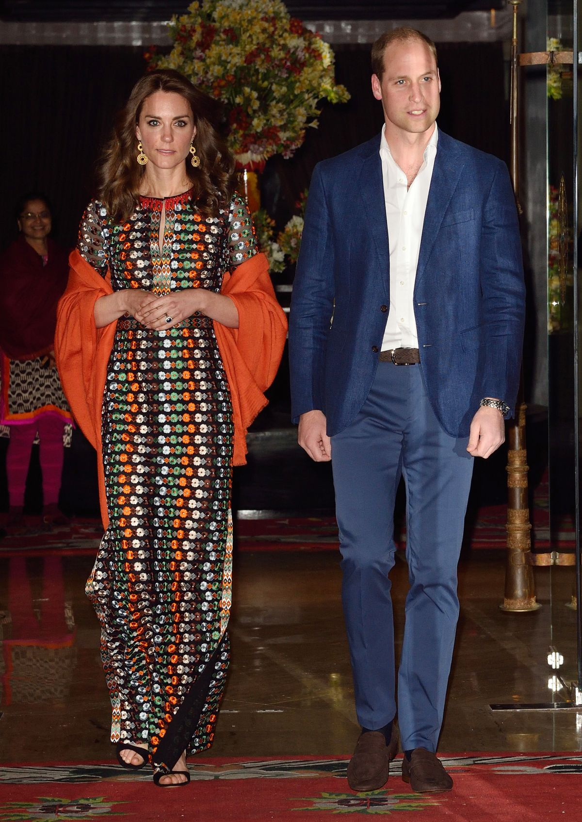 KATE MIDDLETON at a Private Dinner at Lingkana Palace in Thimphu 04/14/2016