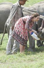 KATE MIDDLETON at Pan Bari Village in Kaziranga National Park in India 04/13/2016