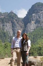 KATE MIDDLETON Out Hiking in Bhutan 04/15/2016