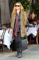 KATE MOSS Out and About in London 04/22/2016