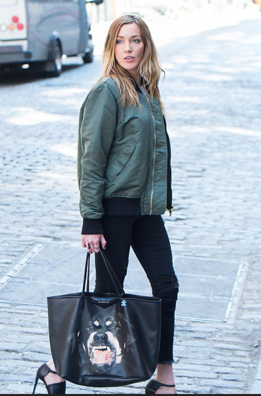 KATIE CASSIDY on the Set of a Photoshoot in New York 04/17/2016
