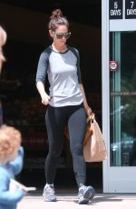 KATIE HOLMES Out and About in Calabasas 04/10/2016