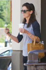 KATIE HOLMES Shopping Grocery in Calabasas 04/10/2016