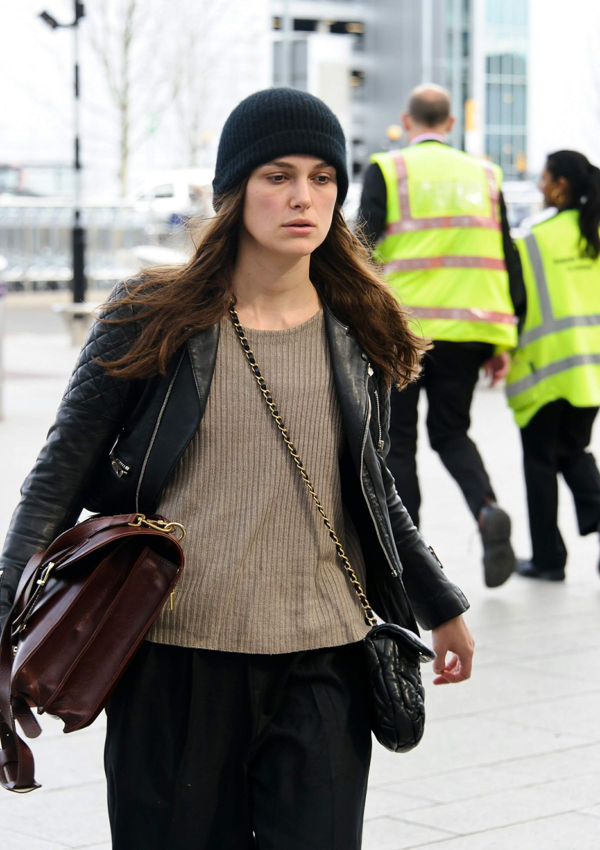 KEIRA KNIGHTLEY Arrives at Heathrow Airport to New York 04/02/2016 Keira Knightley