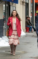 KEIRA KNIGHTLEY on the Set of