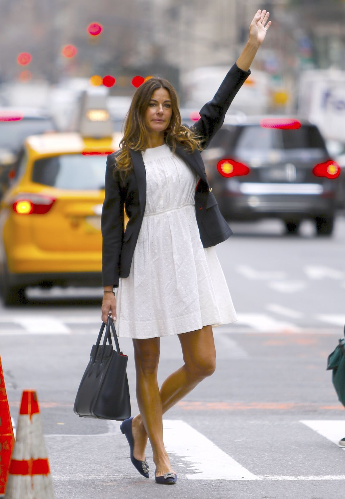 KELLY BENSIMON Hails a Cab in New York 03/10/2016
