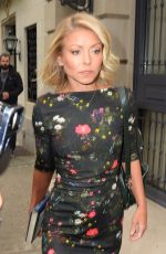 KELLY RIPA Arrives at Live with Kelly and Michael in New York 04/26/2016