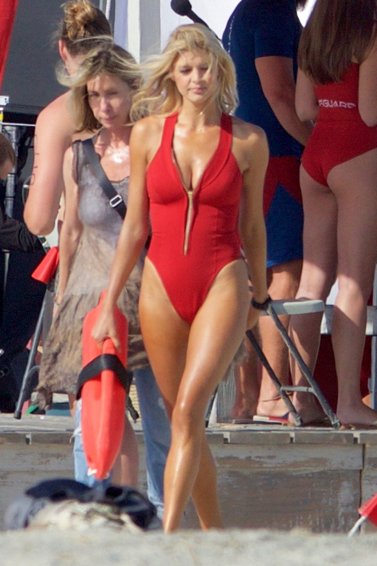 KELLY ROHRBACH On The Set Of Baywatch In Georgia 0418
