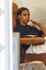 KELLY ROWLAND at a Salon in West Hollywood 03/26/2016