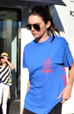 KENDALL JENNER at Cheesecake Factory in Beverly Hills 04/02/2016