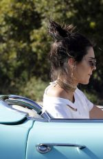 KENDALL JENNER in Denim Shorts Out in Malibu 04/23/2016