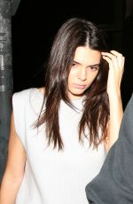 KENDALL JENNER Leaves Nice Guy in West Hollywood 04/02/2016
