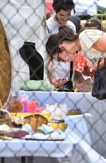KENDALL JENNER Shopping at Flea Market at Rose Bowl in Pasadena 04/10/2016