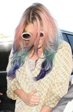 KESHA SEBERT Arrives at Los Angeles International Airport 04/22/2016