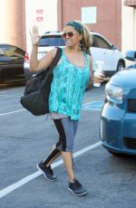 KIM FIELDS at DWTS Rehersal in Hollywood 04/17/2016