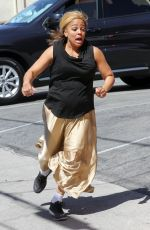 KIM FIELDS Filming a Scene for DWTS in Hollywood 04/18/2016