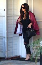 KIM KARDASHIAN Arrives at a Salon in Beverly Hills 03/18/2016