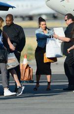 KIM KARDASHIAN at Van Nuys Signature Airport in Los Angeles 04/24/2016