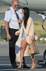 KOURTNEY KARDASHIAN at Van Nuys Signature Airport in Los Angeles 04/24/2016