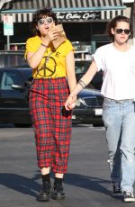KRISTEN STEWART and SoKo Out and About in Hollywood 04/01/2016