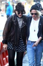KRISTEN STEWART and SoKo Out in New York 04/12/2016