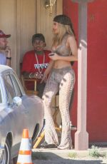 KYLIE JENNER and Tyga on Set of Kylie Lip Kit Commercial in Palm Desert 03/25/2016