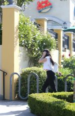 KYLIE JENNER in Tights at Sugarfish in Calabasas 04/26/2016