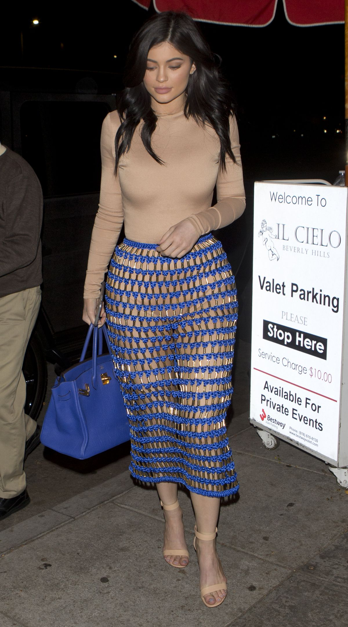 KYLIE JENNER Leaves Il Cielo in Beverly Hills 03/26/2016
