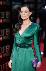 LARA PULVER at 2016 Olivier Awards in London 04/03/2016