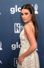 LEA MICHELE at 2016 Glaad Media Awards in Beverly Hills 04/02/2016