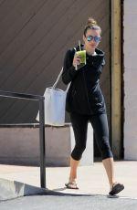 LEA MICHELE Leaves Workout in Santa Monica 04/19/2016