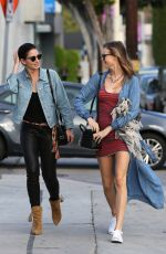LILY ALDRIDGE and BEHATI PRINSLOO Out in West Hollywood 03/30/2016