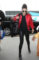 LILY ALDRIDGE at LAX Airport in Los Angeles 04/07/2016