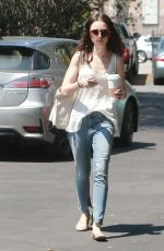 LILY COLLINS in Jeans Out and About in North Hollywood 04/22/2016