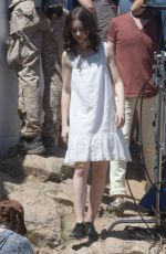 LILY COLLINS on the Set