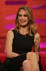 LILY JAMES at Graham Norton Show in London 04/21/2016