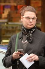 LINDA EVANGELISTA Out and About in New York 04/27/2016