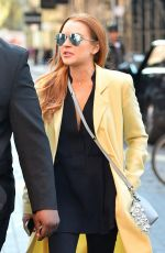 LINDSAY LOHAN Out and About in New York 04/13/2016