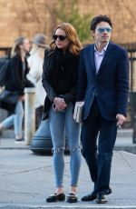 LINDSAY LOHAN Out in New York 04/14/2016