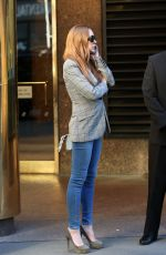 LINDSAY LOHAN Out in New York 04/15/2016