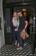 LINDSEY VONN Leaves Craigs Restaurant in West Hollywood 04/09/2016