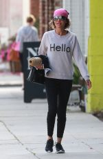 LISA RINNA Leaves Yoga Class in Studio City 04/11/2016